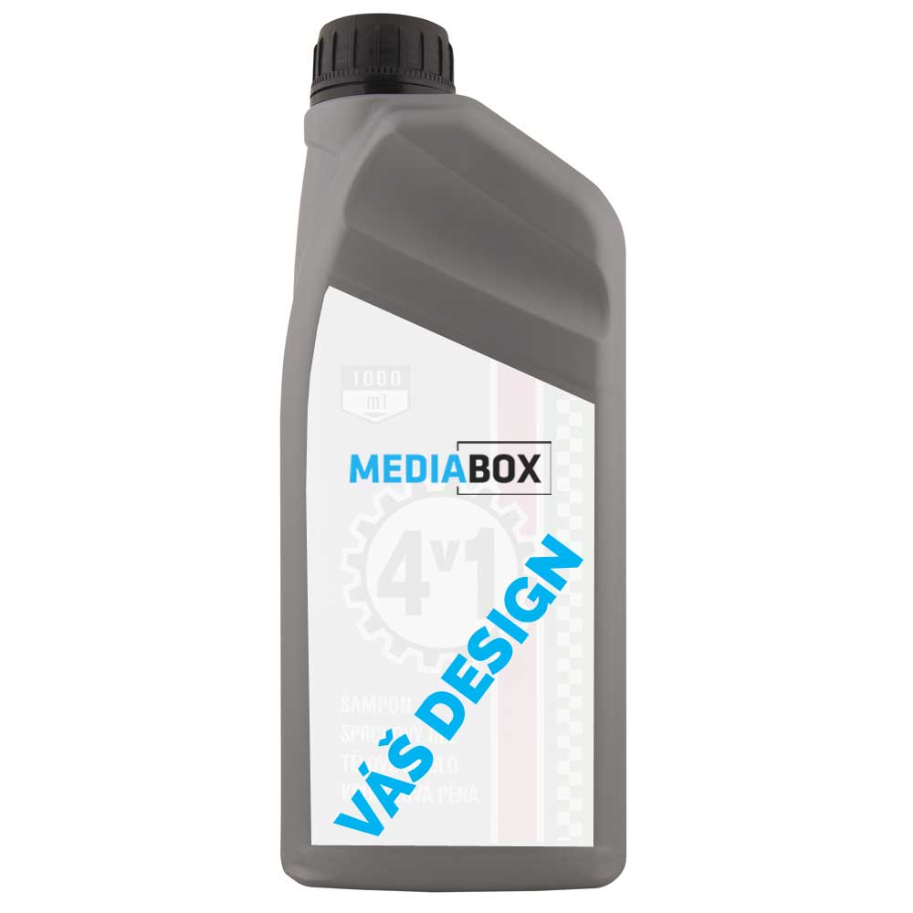 Sprchový gel 1000 ml - industrial - stříbrný