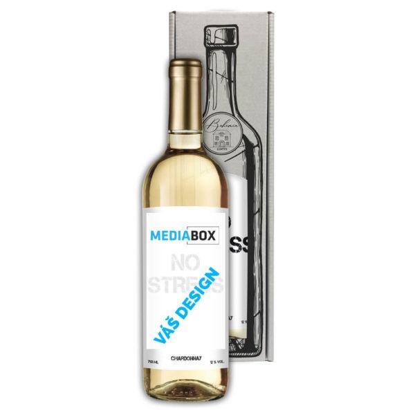 Reklamní bílé víno Chardonnay