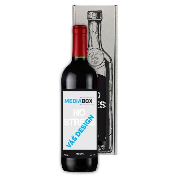 Reklamní červené víno Merlot